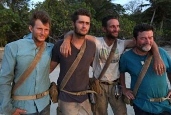 Jud Nichols, Dakota Mortensen, Rob Brothers, and Jim Murray before leaving The Island