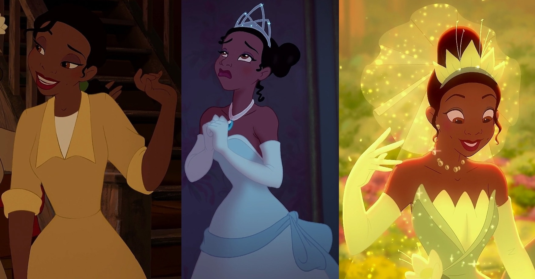 Tiana and her different outfits.