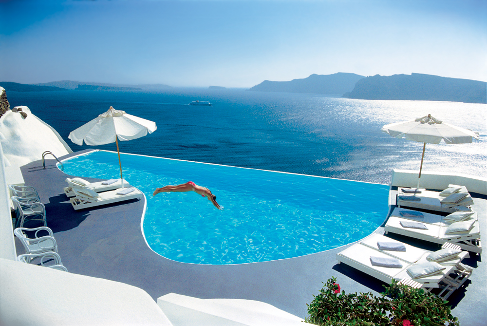 katikies hotel santorini greece world s most amazing swimming pools