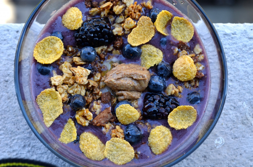 Acai Juice and Blackberries