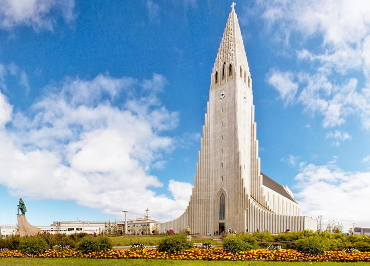 The Church of Hallgrimur in Iceland