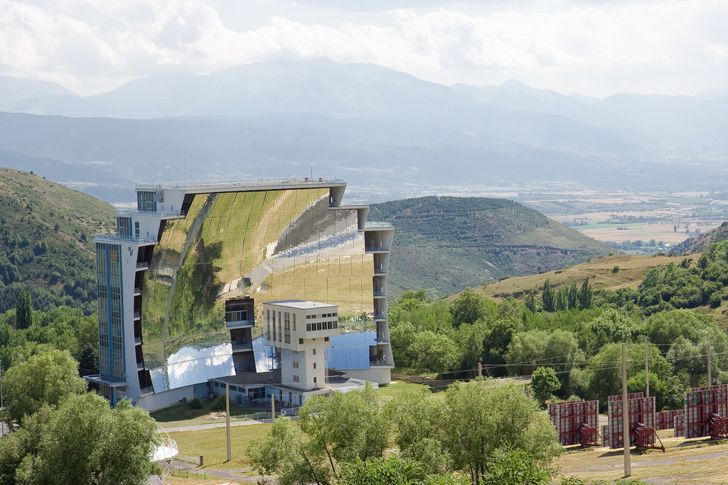 Solar Furnace at Odeillo Font-Romeu in France