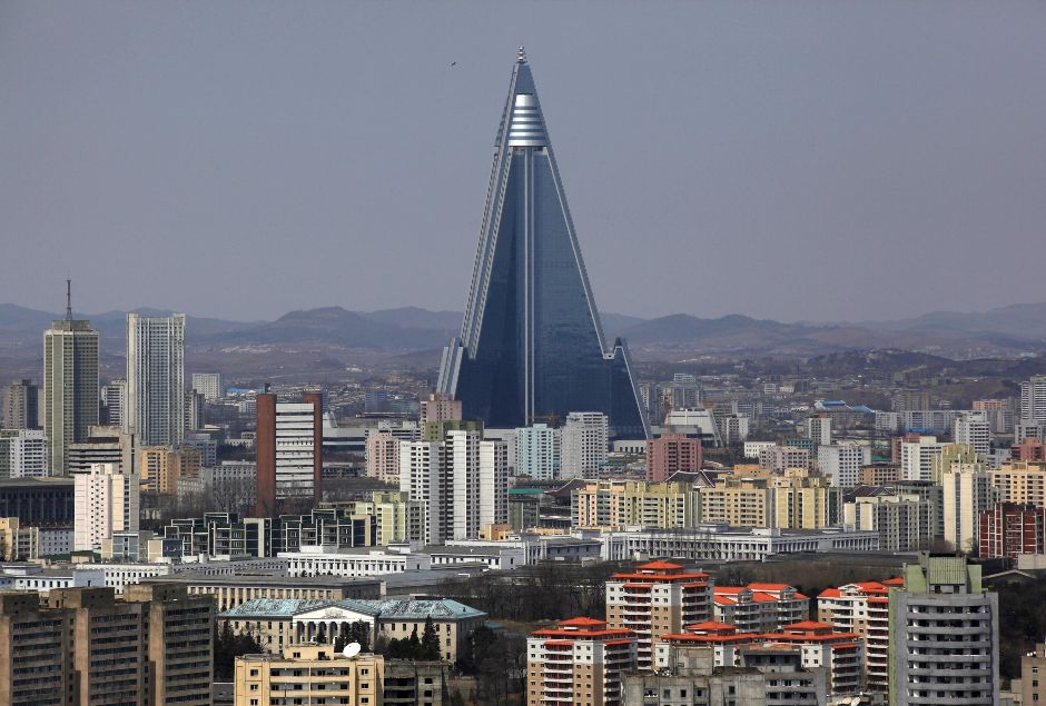 Ryugyong Hotel in North Korea