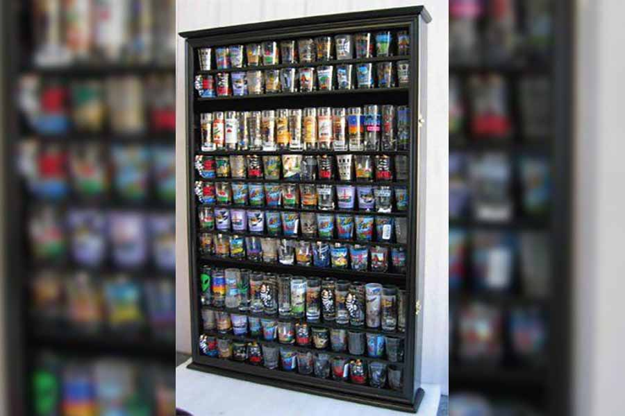 Displaying Your Shot Glass Collection