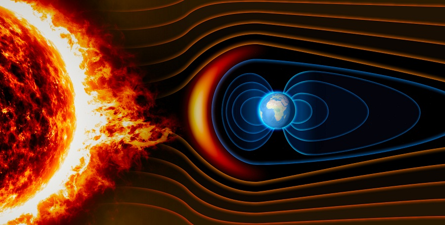 Earth's Magnetic Field, The Earth, The Solar Wind, The Flow Of Particles