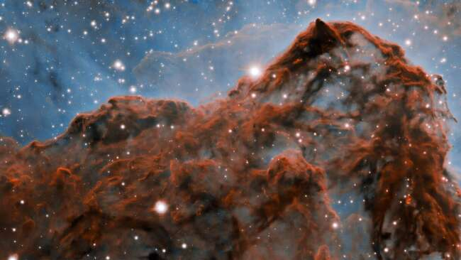 Carina Nebula Western Wall (with Adaptive Optics)