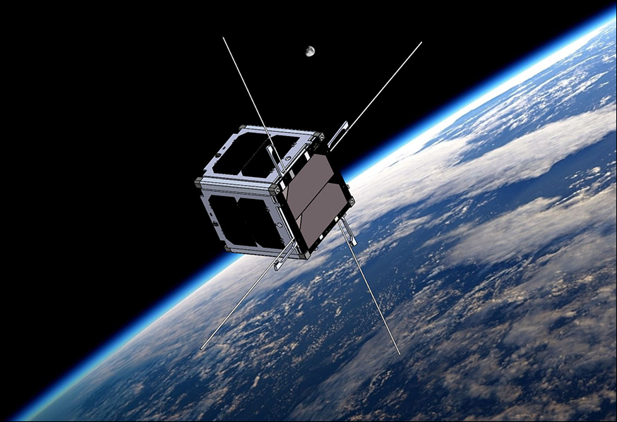 CubeSat In Outer Space