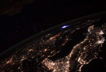 Blue Lightening Spotted From The ISS